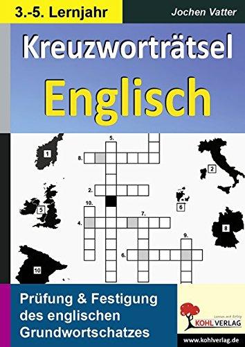 Kreuzworträtsel Englisch - 3.-5. Lernjahr