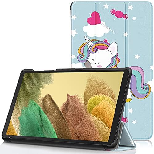TTVie Hülle für Samsung Galaxy Tab A7 Lite - PU Leder Schutzhülle mit Standfunktion für Samsung Galaxy Tab A7 Lite 8,7 Zoll Tablet-PC 2021 Modell, Farbe Pferd