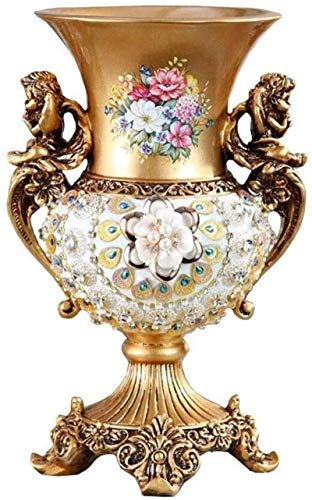 Vases Cerámica para centros de mesa, decoración de flores, centro de mesa, dormitorio, oficina, hotel, decoración del hogar, pintada a mano, alta decoración
