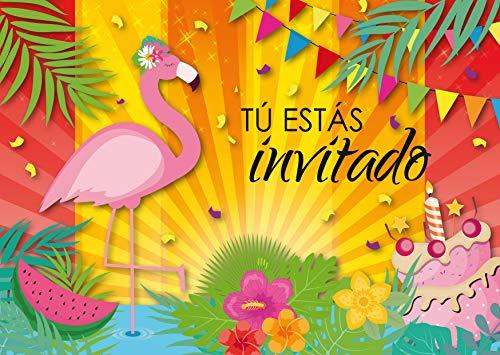 """Edition Colibri 10 Invitaciones en español """"Fiesta Flamenco"""": Juego de 10 Invitaciones cumpleaños Infantil / Fiesta para niñas (11050 ES)"""