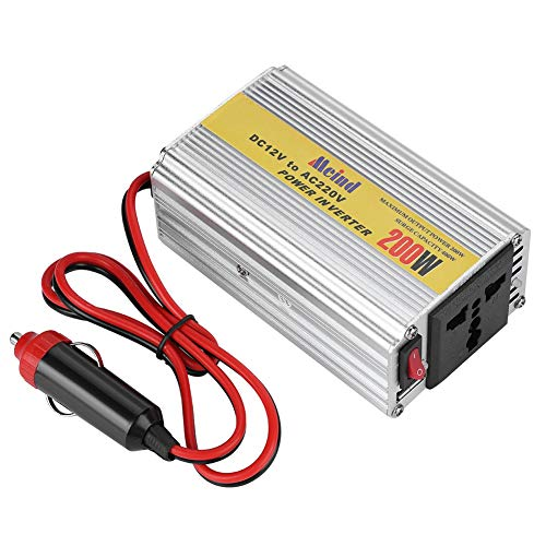 Spanningsomvormer 200W DC 12V naar AC 220V, voertuigomvormer Gemodificeerde sinusomvormer met 1 USB-aansluiting, sigarettenaanstekerplug Auto Power Inverter