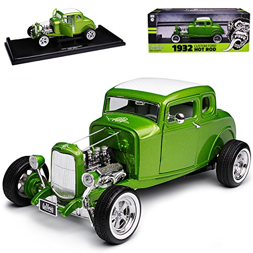 Greenlight Ford Hot Rod Gas Smokey Garage Grün 1932 1/18 Modell Auto