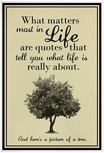 What Life Is About Poster 13 x 19in