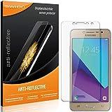SWIDO Schutzfolie für Samsung Galaxy J2 Prime [2 Stück] Anti-Reflex MATT Entspiegelnd, Hoher Festigkeitgrad, Schutz vor Kratzer/Folie, Bildschirmschutz, Bildschirmschutzfolie, Panzerglas-Folie