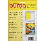 Papel carbón Burda btcpbr 1 amarillo y 1 sábana blanca 83 x 57 cm