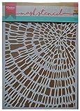 Marianne Design Plantilla de Máscara, Madera Cortada, para Scrapbooking, Crear Tarjetas y Otras Manualidades con Papel, plastico, Blanco, Small