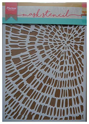 Marianne Design Kunst und handwerk Mask Schablone, Geschnittenes Holz, für Scrapbooking, Kartengestaltun und Papierbasteln