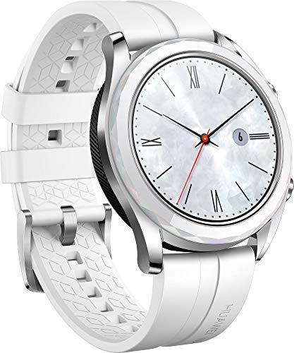 """Huawei Watch GT Elegant, Smartwatch con Caja de Metal, Pantalla Táctil AMOLED de 1.2"""", Monitor de Ritmo Cardíaco y Sueño, GPS, Sumergible 50 M, 42 mm, Blanco miniatura"""