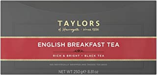 Taylors of Harrogate Wrapped Tea Bags, English Breakfast, 100 Count