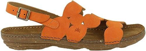 El Naturalista N5223 Pleasant Carrouge Torcal Orange Femme Sandales Boucle