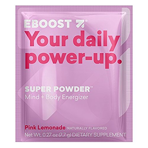 EBOOST Super Energy Powder Drink Mix, Non-GMO Electrolyte Supplement Loaded with Vitamins (Pink Lemonade)
