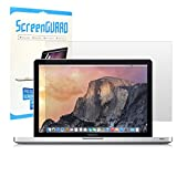 TOP CASE - Ultra-Clear High Definition (HD) LCD Screen Guard Compatible with Apple Old Generation MacBook Pro 15' with CO-ROM/DVD Drive Model A1286 - Glossy Clear