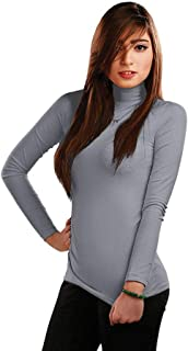 Pourelle Under shirt - Body Long Sleeve - Half Cole - Lycra - for Women
