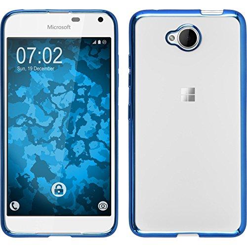 PhoneNatic Case kompatibel mit Microsoft Lumia 650 - blau Silikon Hülle Slim Fit Cover