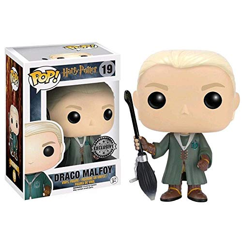 Funko Pop Draco Malfoy 19 Harry Potter Figuras 9 cm Quidditch Exclusive #1