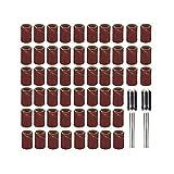 Tiempo DE ZUAN Herramientas abrasivas 102pcs Conjunto de Tambor de Lijado 100pcs Bandas enrollables con Mandriles de 6,35 mm for Herramientas rotativas Dremel (Color : 102pcs Set)