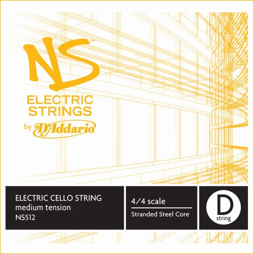 D'Addario NS512 - Cuerda para violonchelo eléctrico de acero en Re, 4/4...