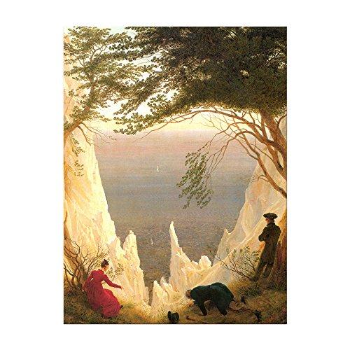 Kunstdruck Poster - Caspar David Friedrich Kreidefelsen auf Rügen 60x80 cm ca. A1 - Alte Meister Bild ohne Rahmen