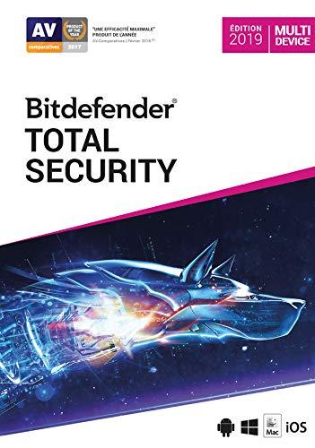 Bitdefender Total Security 2021 | Standard | 10 appareils| 1 An | PC/Mac |