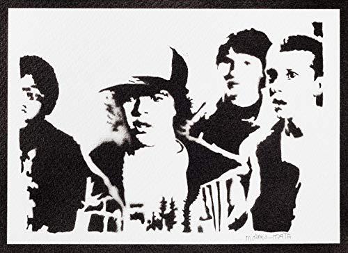 Póster Stranger Things Once Mike Dustin y Lucas Grafiti Hecho a Mano - Handmade Street Art - Artwork
