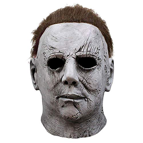keland Michael Myers Maske Latex Horror Cosplay Kostüm für Karneval & Halloween(Grau)