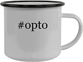 #opto - Stainless Steel Hashtag 12oz Camping Mug, Black