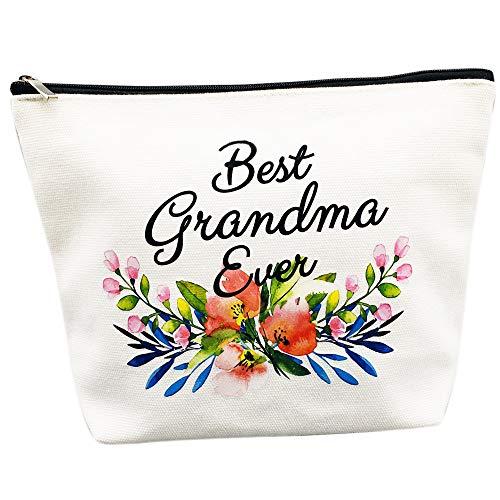 Grandma Gifts Best Grandma Ever Makeup Bag Mother's Day Gifts Grandmother Birthday Gifts Nana Gift for Mom from Granddaughter