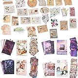 Set di 220 Pezzi di Adesivi Washi in Carta Adesivo Fai da Te a Fiori Vintage Adesivo Decorativo Materiale...