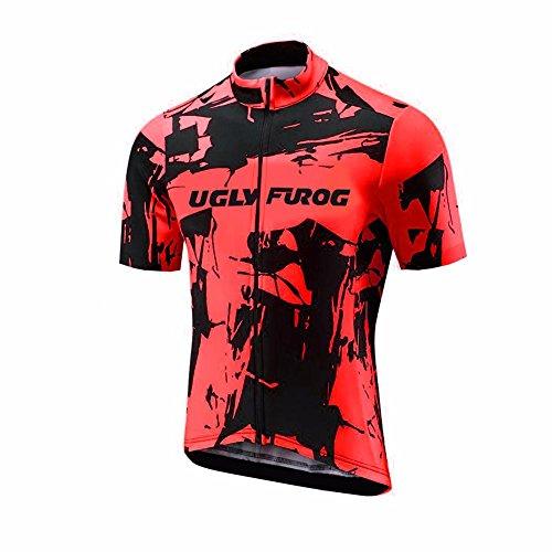 BurningBikewear Uglyfrog Designs Elementos Color Bike Wear Ciclismo Hombre Bicycle Maillots Manga Corta Verano Transpirable Secado Rápido Cycling Top