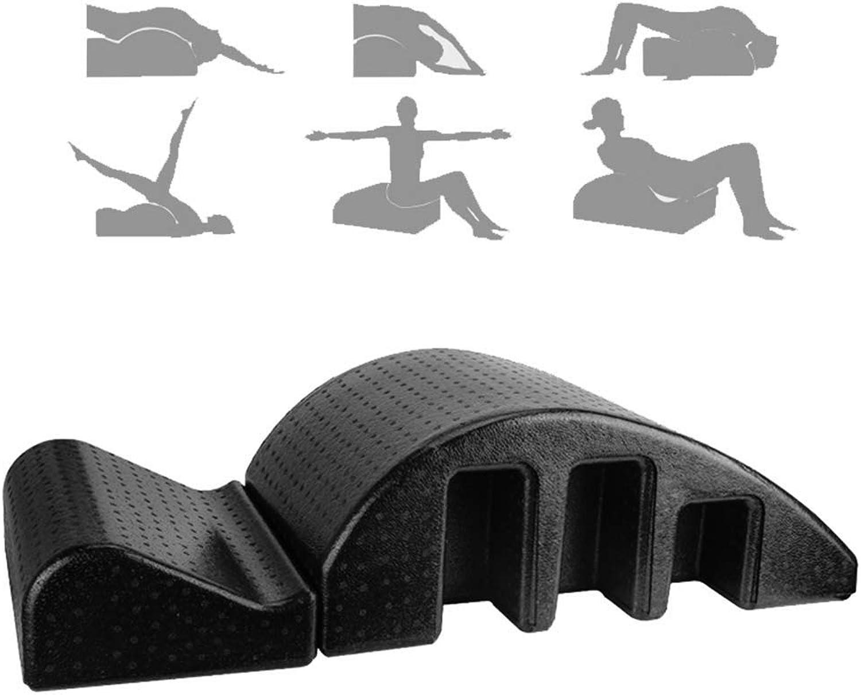 Festiveasd Pilates-Massagetisch, Schmerzlinderung durch Rückenwirbelsulen-Aligner, Gesundheits-Yoga mit Rückenkurven, Schaumausgeglichener Krper, Wirbelsulenausrichtung,schwarz