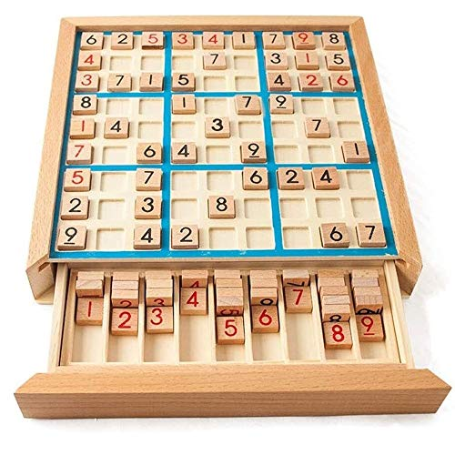 LMDH Schaken Sudoku Schaken cijfers 1-9 kunt slechts eenmaal in Any rijlijn en Check Intelligent Fancy Educational Wood Toys Games