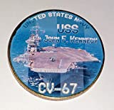 Navy USS John F Kennedy CV-67 Colorized Challenge Art Coin