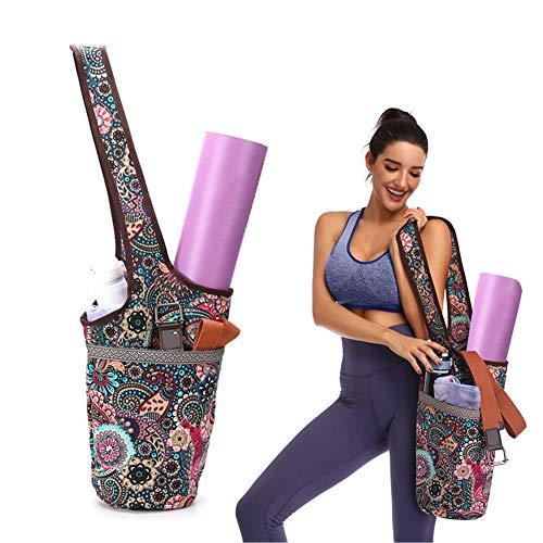 Yoga-Matte-Tasche, Übungs-Yoga-Matte-Riemen-Träger, beiläufiger Mode-Segeltuch-Yoga-Beutel-Rucksack...