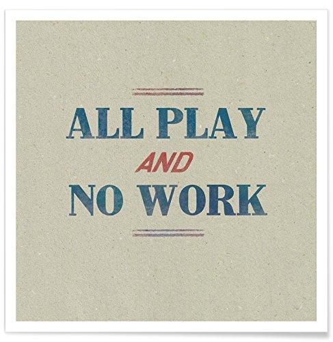 """Juniqe® Zitate & Slogans Poster 50x50cm - Design """"Work"""" entworfen von Sammy Slabbinck"""