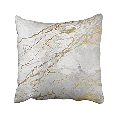 Shorping Zippered Pillow Covers Pillowcases 16X16 Inch white gray silver pearly gold vip brush marble Decorative Throw Pillow Cover ,Pillow Cases Cushion Cover for Home Sofa Bedding