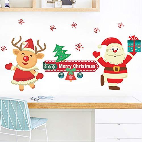 Noël Stickers Muraux Lettre Décor Moderne Amovible Diy Avion Sticker Mural Pvc Affiche Mignon Bonhomme De Neige Chambre Toile de Fond Art Decal