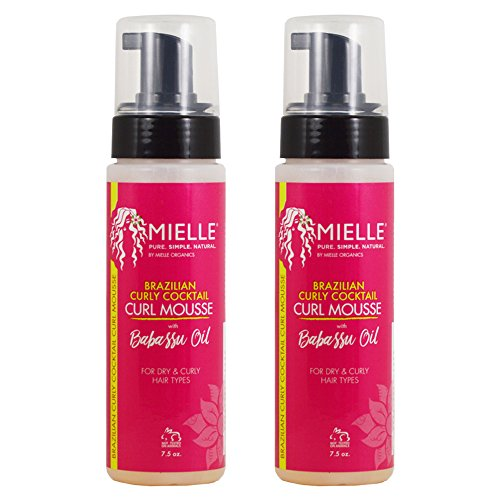 "Mielle Organics Brazilian Curly Cocktail Curl Mousse 7.5oz ""Pack of 2"""