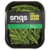 Snaqs 90106 Judías verdes asadas - snacks salados - alimentos deshidratados - Paquete de 10x40...
