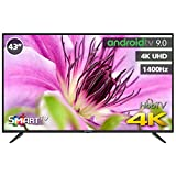 TV LED INFINITON 43' INTV-43MU1490 4K UHD 1400HZ - Smart TV - Android 9.0 - Reproductor y Grabador USB - HDMI - HbbTV