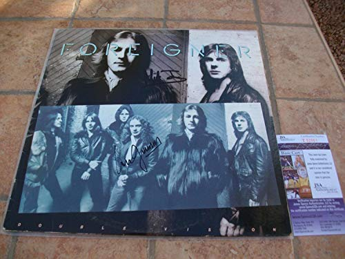 Mick Jones Autographed Signed And Lou Gramm Foreigner Double Vision Lp...
