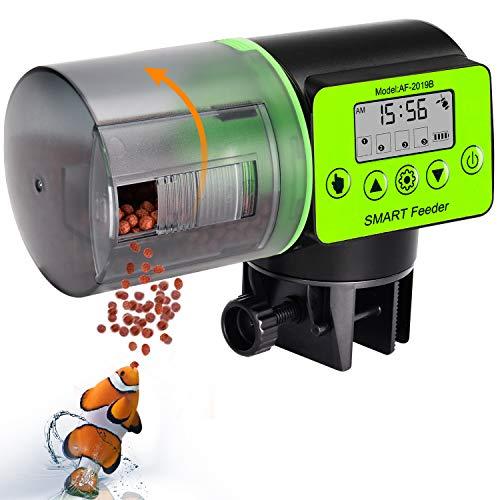 KINOEE Mangeoire Automatique pour Poissons d'aquarium, mangeoire électrique Automatique étanche à l'humidité, mangeoire d'aquarium, Distributeur de Nourriture pour Les Vacances et Les Week-Ends