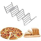 Food Rack Shell, pratico in acciaio inox 4 forma di onda di piccole dimensioni Taco Holder...