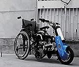 GNLIAN HUAHUA Silla de Ruedas eléctrica Handbike eléctrico Deportes para Silla de Ruedas eléctrica Handcycle Silla de Ruedas Handbike al Aire Libre (Color : Blue)
