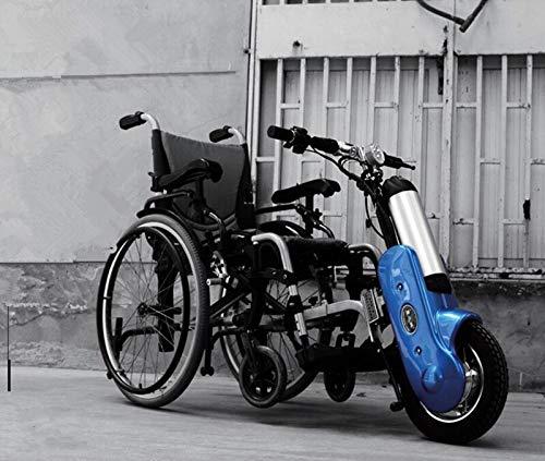 GNLIAN HUAHUA Silla de Ruedas eléctrica Handbike eléctrico Deportes para Silla de Ruedas eléctrica Handcycle Silla de Ruedas Handbike al Aire Libre (Color : Blue) 🔥