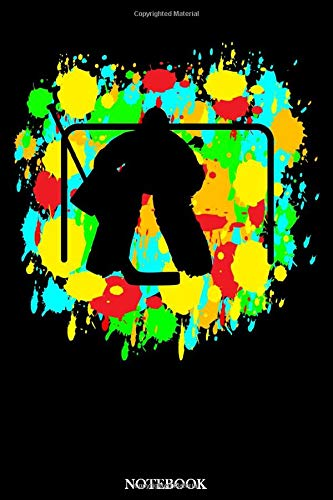 Notebook: Icehockey Color Blobs | Notebook | For Icehockey Player & Winter Sports Fans | 105 dotted pages | 6 x 9 inches |