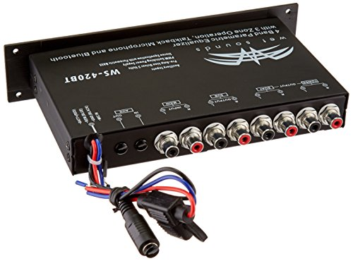 WS-420BT - Wet Sounds Marine Audio Multi Zone Equalizer with Integrated Bluetooth by Wet Sounds