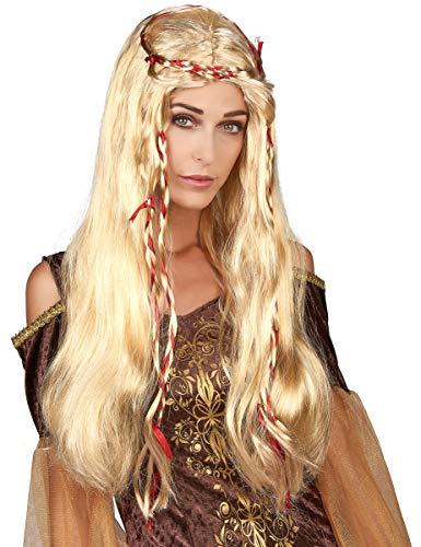 DEGUISE TOI Perruque médiévale Blonde Femme