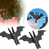 HenJiu Bat-Shaped Clip 2Pcs Weird Halloween Party Decoration Batman Home Service Hook Hanging Nail Plastic bat-Shaped Clothes Clip Clothespin Laundry Rack Cool