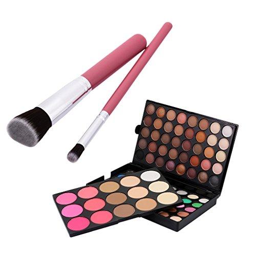 joyMerit Palette de Maquillage 95 Couleurs Ombre Paupières + 2 Pinceaux de Maquillage