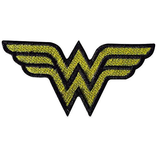 Real Empire Wonder - Parche para mujer con logotipo bordado en oro para planchar o coser, diseño de DC Comics